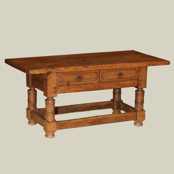 Italian Bolognese Walnut Low Table