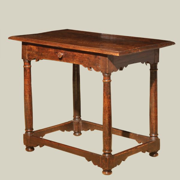 Italian Baroque Walnut Side Table