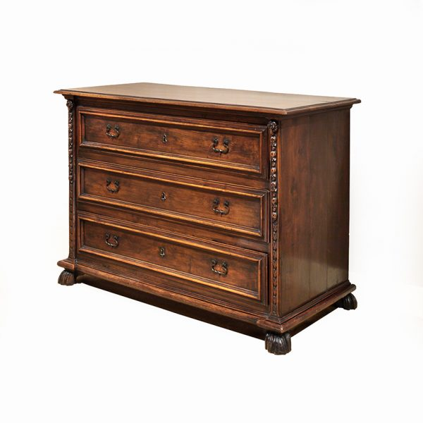 Italian Baroque Period Walnut Commode