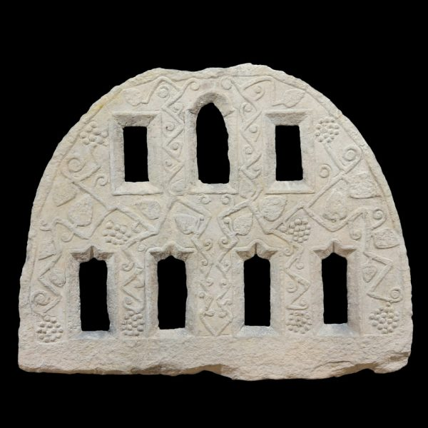 Greek Carved Marble Architectural Grill