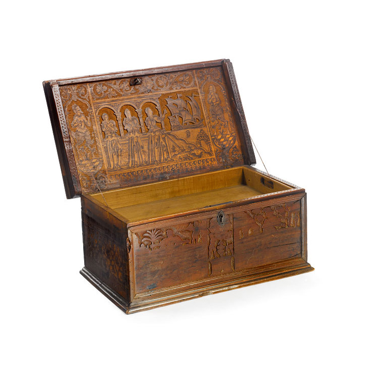 Italian Baroque Period Cypress Box