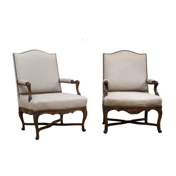 Regence Period Walnut Armchairs