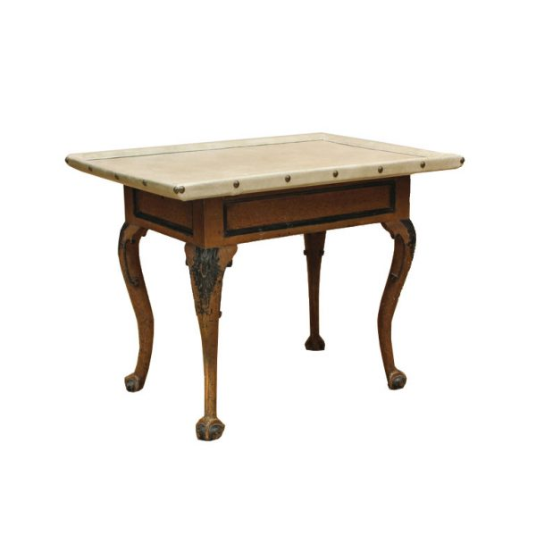 Swedish Rococo Period Faux Bois and Painted Center Table