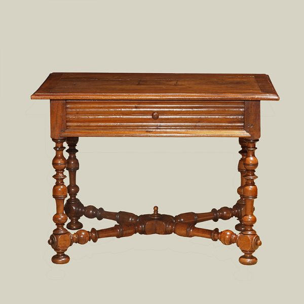 French Baroque Walnut Table