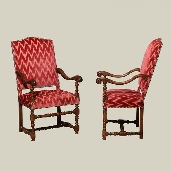 Pair of Louis XIV Walnut Chairs