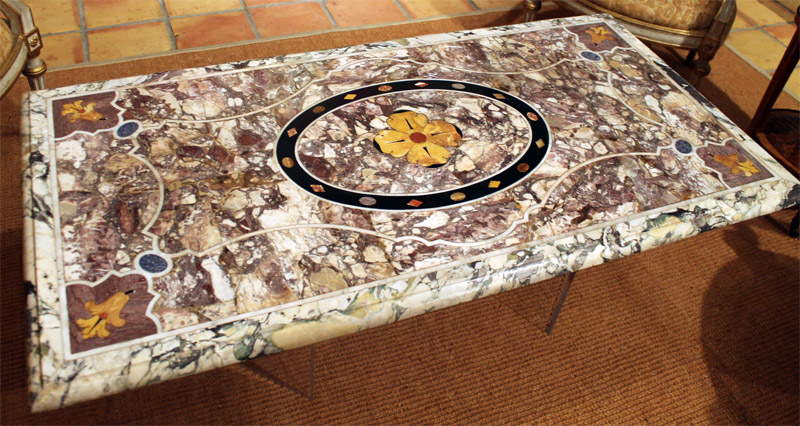 Fine Italian Early Baroque Pietra Dura Marble Table Top
