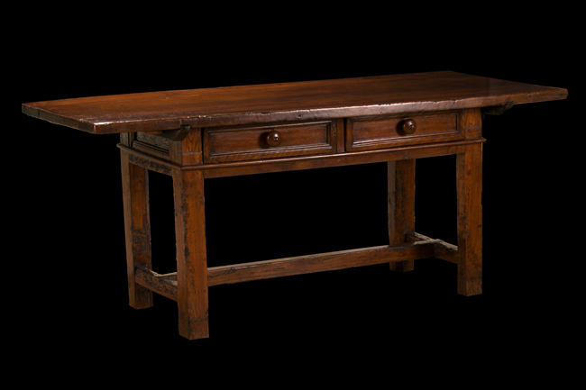 Italian Baroque Walnut Library Table
