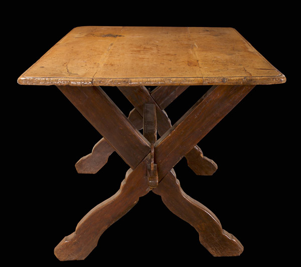 -Sold- Swiss Baroque Sycamore and Oak Table