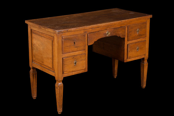 Louis XVI Light Walnut Desk