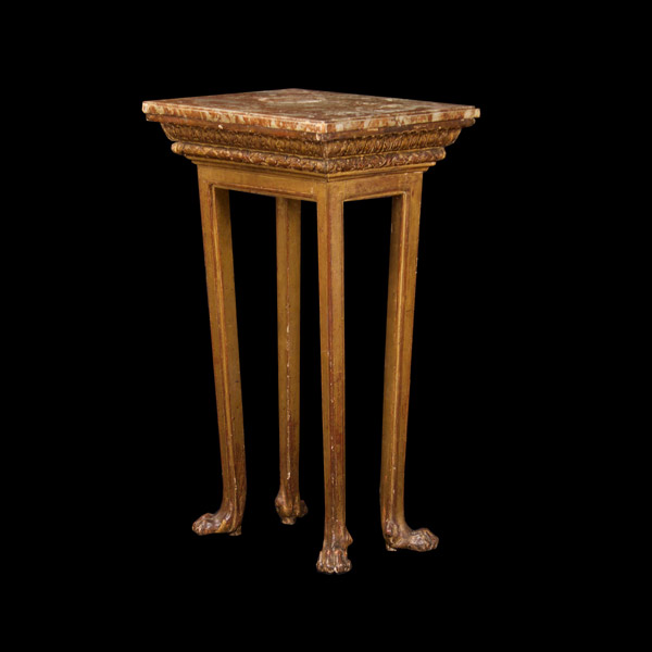 North Italian Giltwood Table With Faux Marble Top