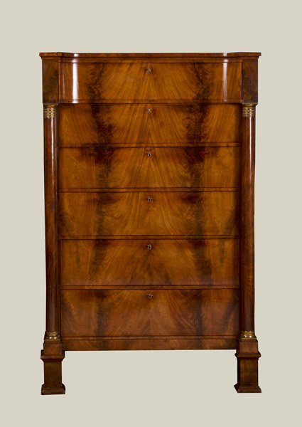 French Empire Mahogany Chest
