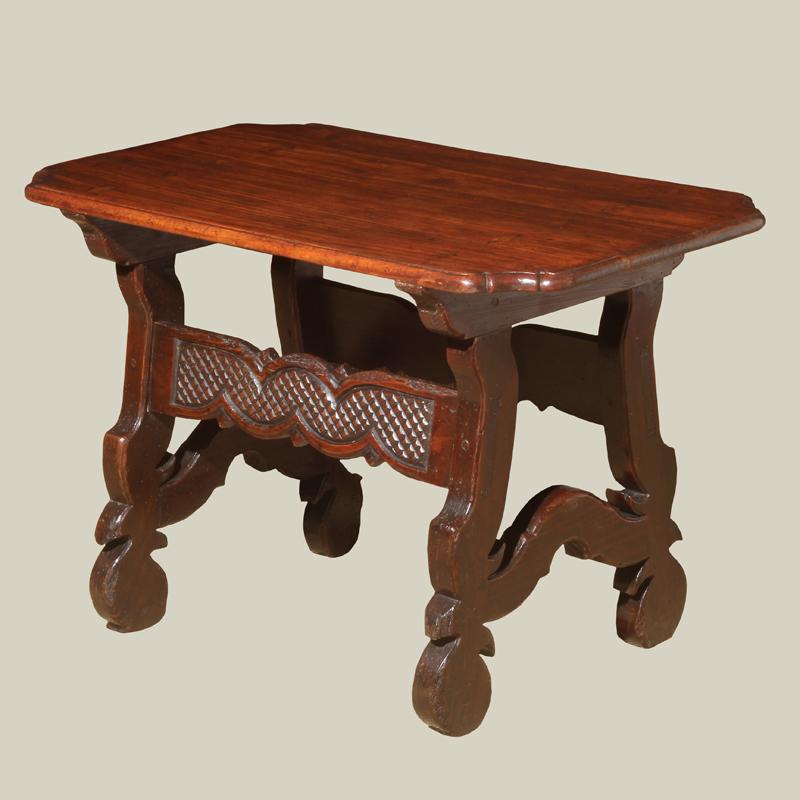 Spanish Baroque Walnut Side Table