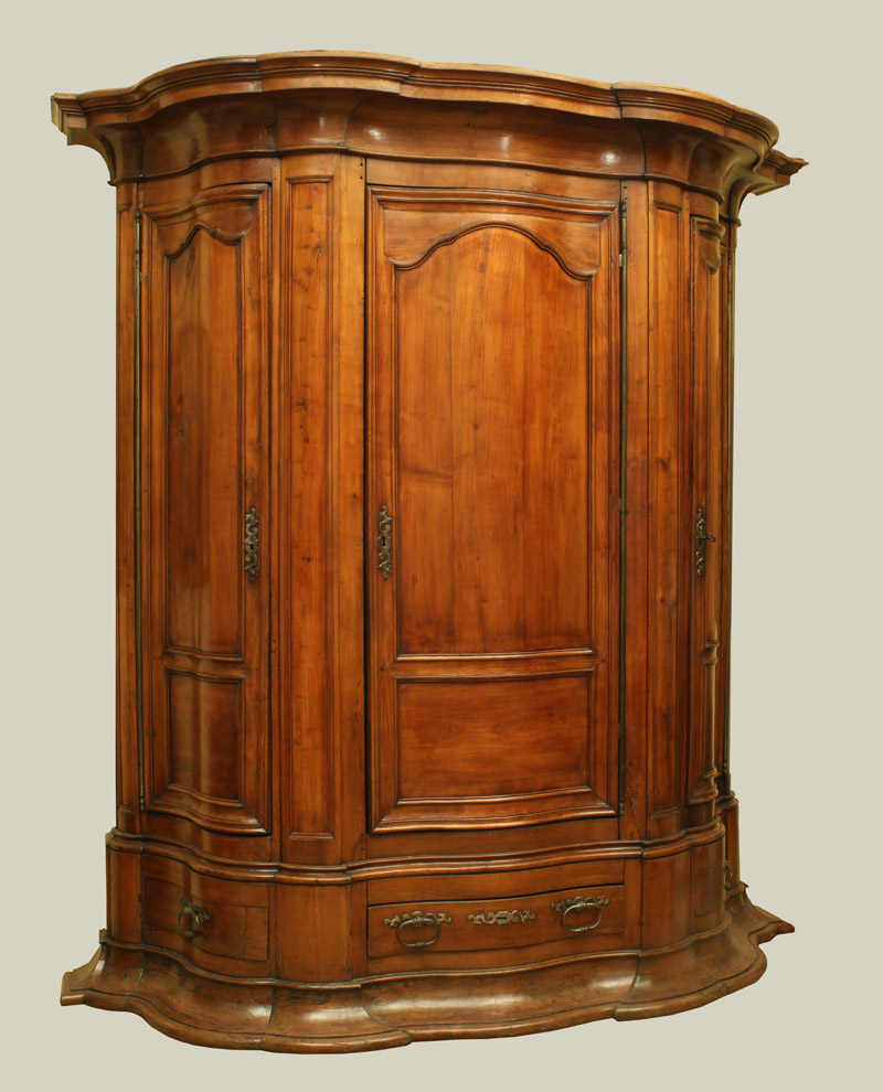 Regence Period Cherrywood Armoire