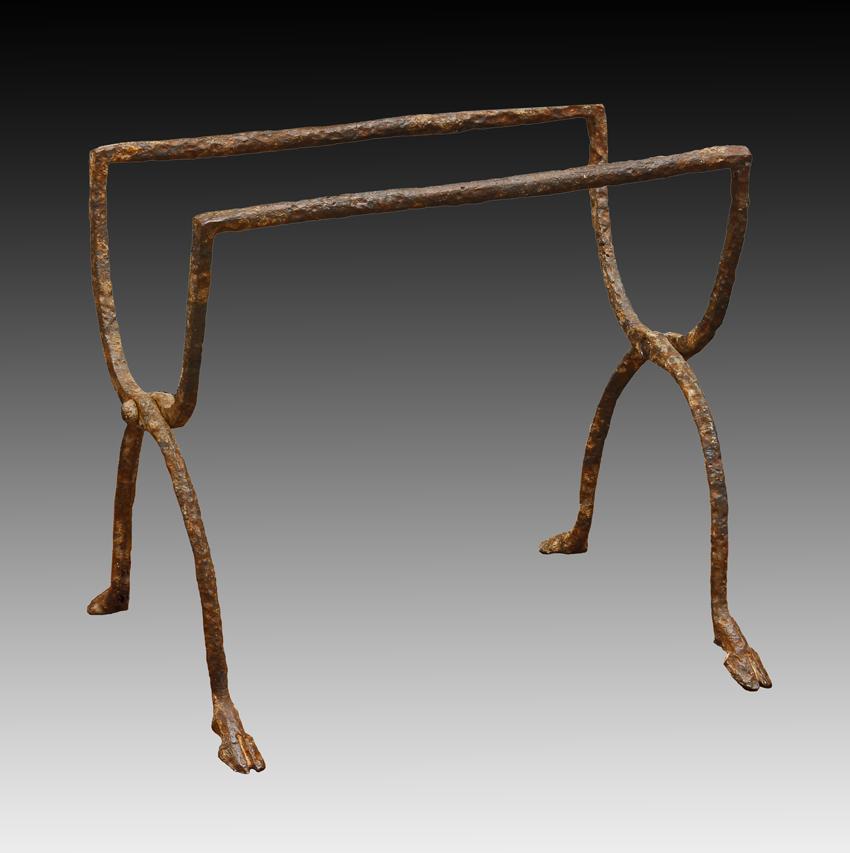 Very Rare Roman Wrought-Iron Folding Stool