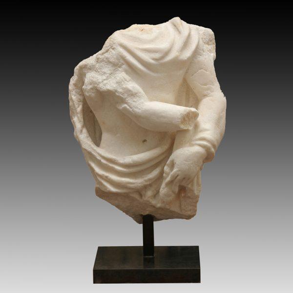Roman Marble Sculpture Fragment Depicting Cautopates