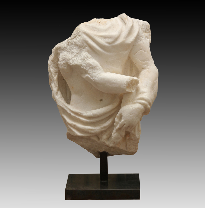 Roman Marble Sculpture Fragment Depicting Cautopates