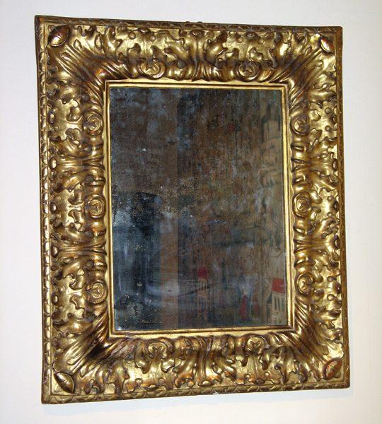 Italian Baroque Period Giltwood Mirror