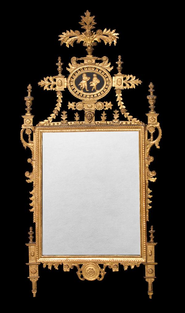 Italian Neoclassic Period Giltwood Mirror …<s>$18,000</s> / <b>$7,000</b>