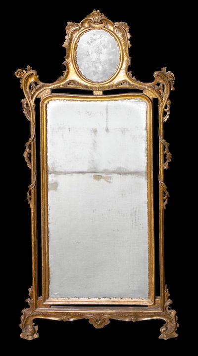 Unusual Italian Rococo Period Giltwood Mirror …<s>$28,000</s> / <b>$14,000</b>