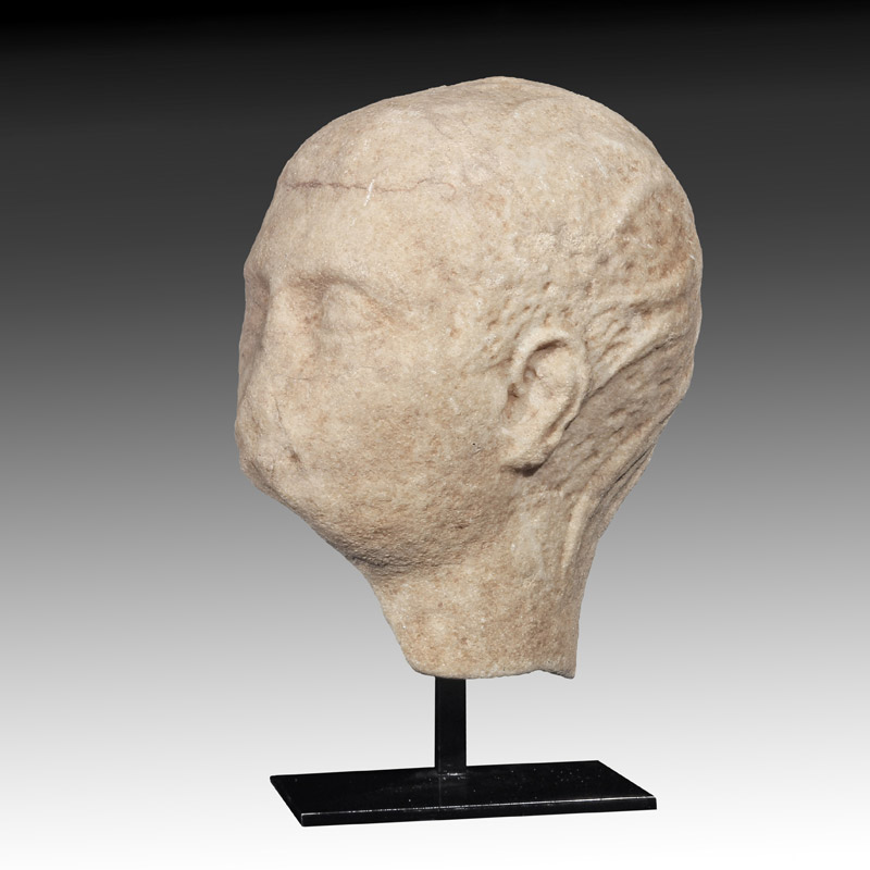 Roman Marble Portrait Head