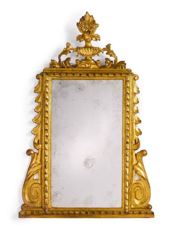 Italian Neoclassic Period Giltwood Mirror