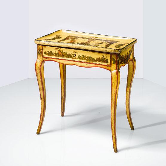 Louis XV Period Lacca Povera Tray-top Table