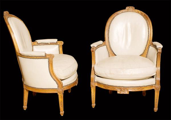 Pair of Louis XVI Beechwood Bergere Armchairs…<s>$6,000</s> / <b>$2,000</b>