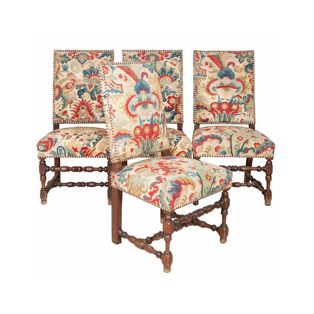 Loius XIV Walnut Chairs