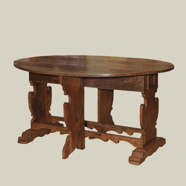 Tuscan Baroque Period Walnut Folding Table