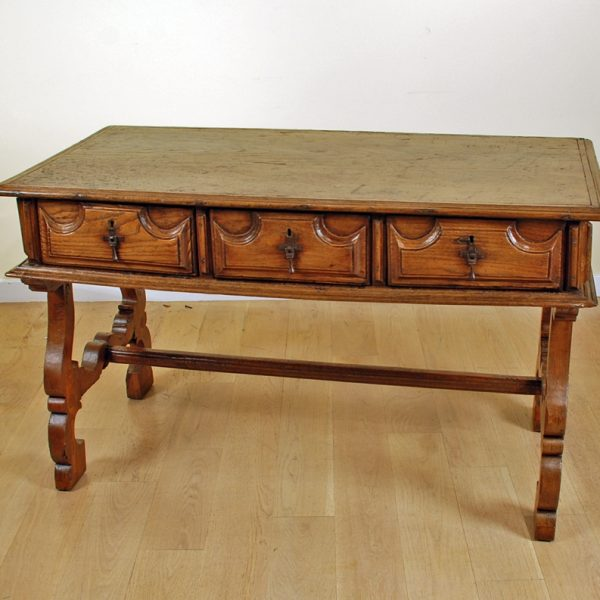 Spanish Baroque Period Chestnut Desk