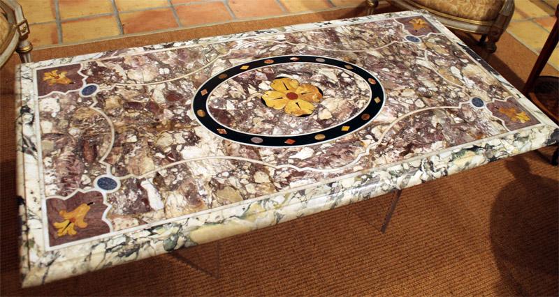 Fine Italian Early Baroque Pietra Dura Marble Table Top…<s>$65,000</s> / <b>$38,000</b>