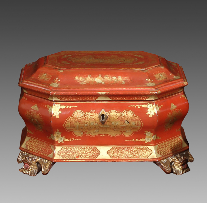 Chinese Export Red Lacquer Box
