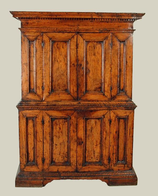 Northern Italian Baroque Period Walnut Doppio-Corpo