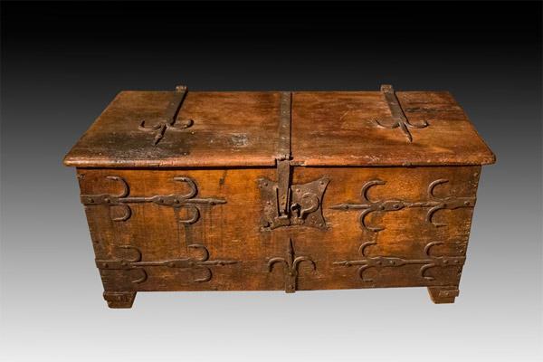 -SOLD- Early German Oak Coffer