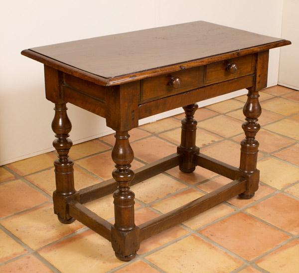 Italian Baroque Period Walnut Table …<s>$8,500</s> / <b>$4,500</b>