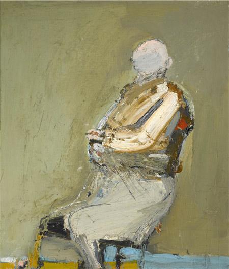 -SOLD- Nathan Oliveira, 1958, 36″ x 31″
