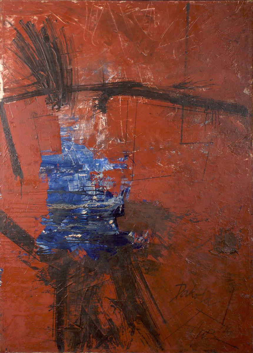 Hassel Smith, 1961, 67.5 x 48″