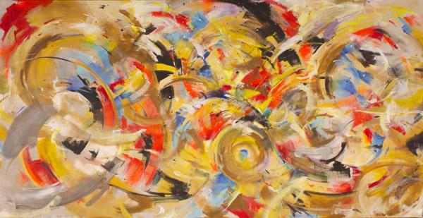 -SOLD- John Grillo, 1957, 50″ x 96″
