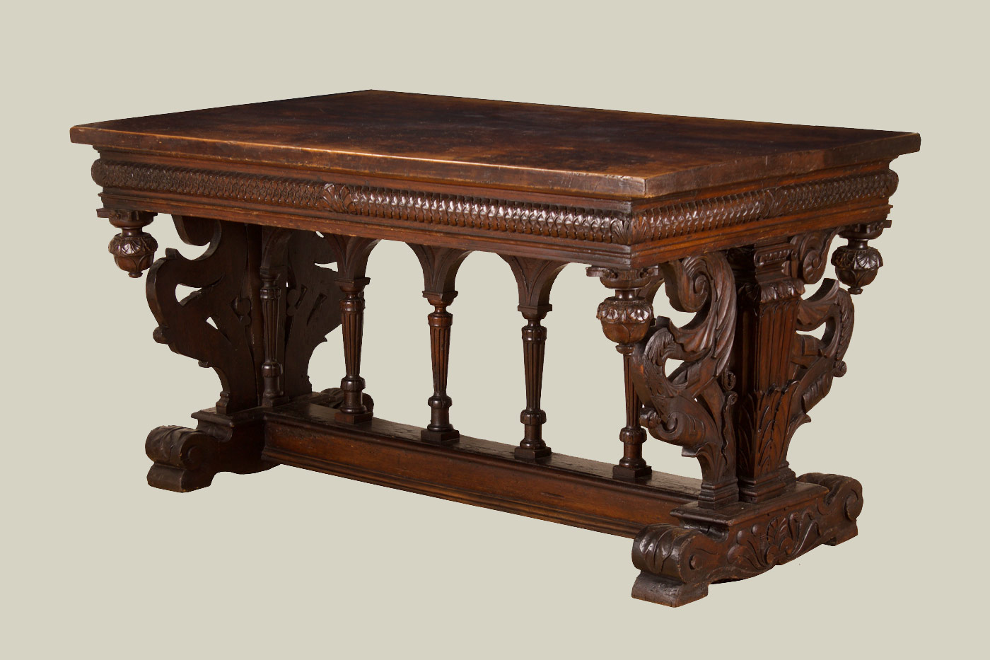 Italian Renaissance Period Walnut Center Table…<s>$55,000</s> / <b>$29,000</b>