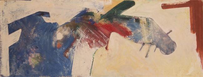 Hassel Smith, 1963-1964, 20″ x 48″
