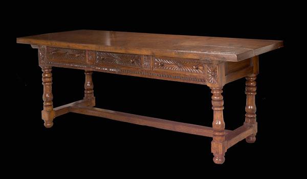 Large Spanish Baroque Walnut Table…<s>$18,000</s> / <b>$9,000</b>