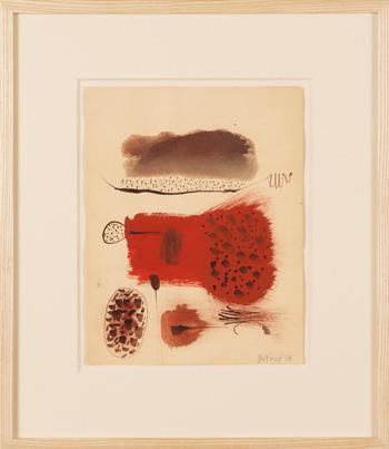 Roy De Forest, 11″ x 8.5″, 1958