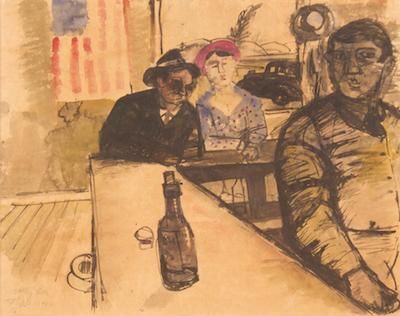 Hassel Smith, 1944, 18″ x 21″