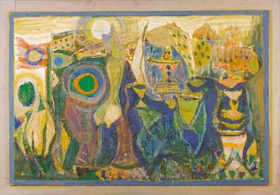 Jean Varda, 1960's, 36.5″ x 52″