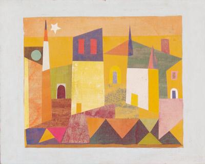 -SOLD- Jean Varda, 1960's, 15.5″ x 19.5″
