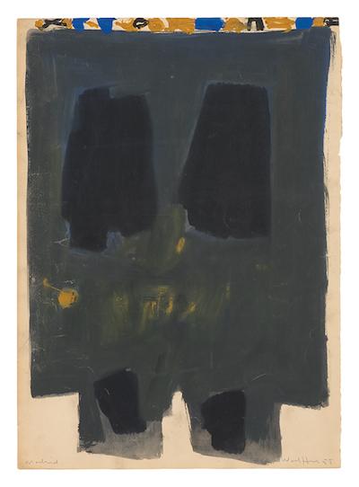 "Emerson Woelffer, 1958 ""34.75 x 27"""