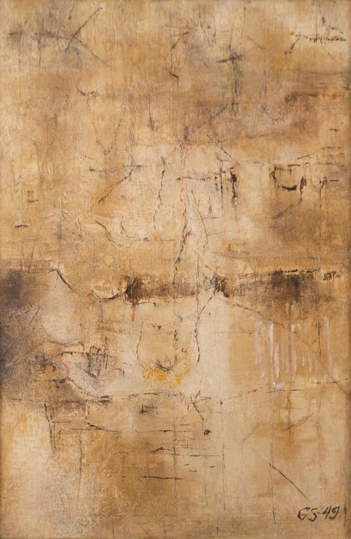 -SOLD-  George Stillman, 43″ x 29″ (framed), 1949