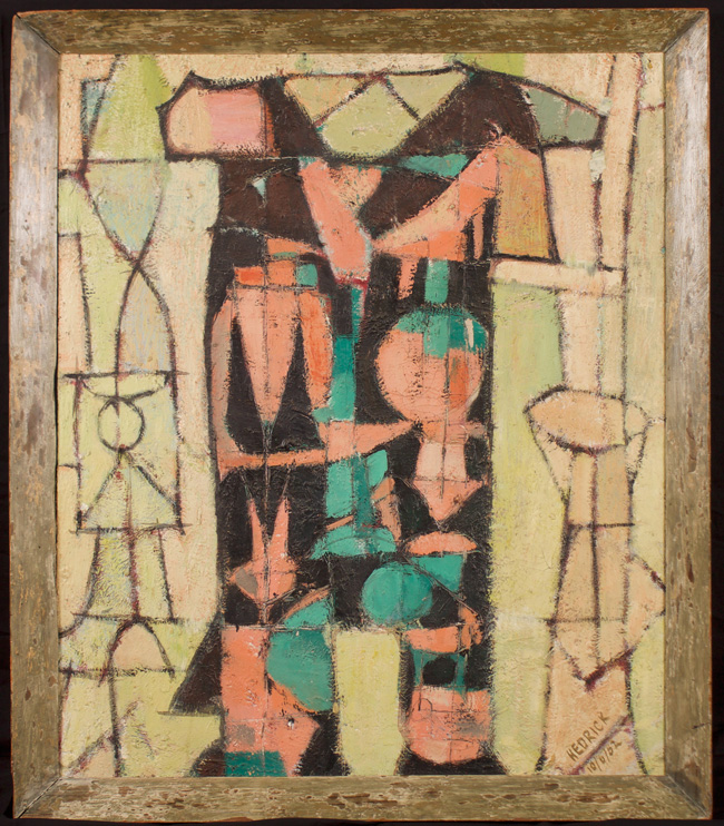 Wally Hedrick, 1952, 39.5″ x 33.5″