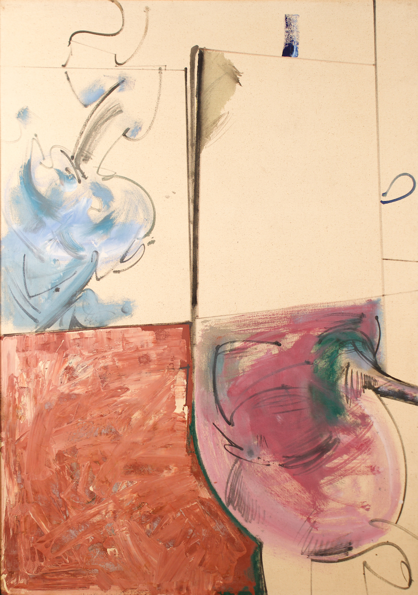 -SOLD- Hassel Smith, 1960, 68″ x 48″