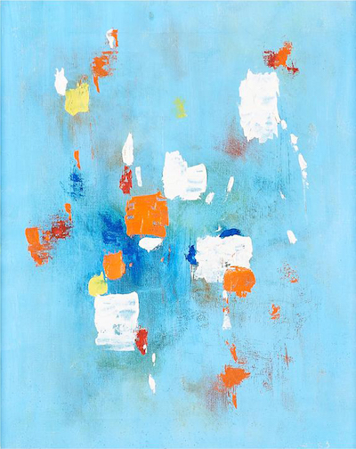 -SOLD- John Grillo, Untitled, 1953, 16.25″ x 13.25″